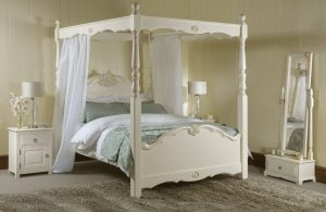 Orleans Four Poster Bed with Bedroom Furniture