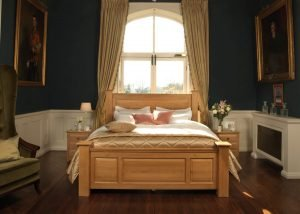 Large Traditional Bed Handmade from Solid Oak
