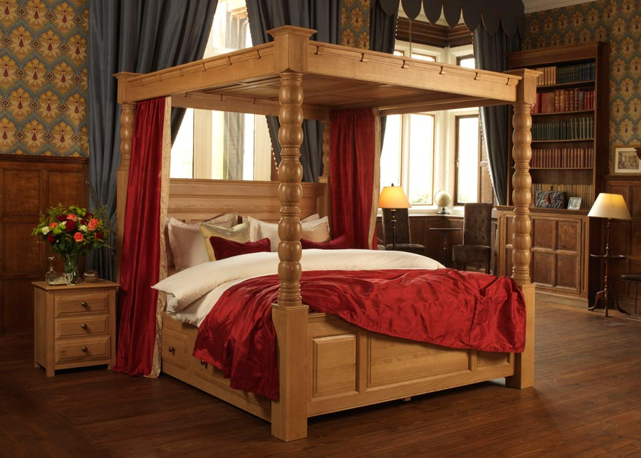 Solid Wood Four Poster Bed The Ambassador 4 Poster Revival Beds
