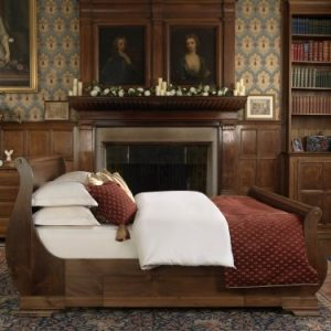 Super King-size Sleigh Bed in Solid Wood