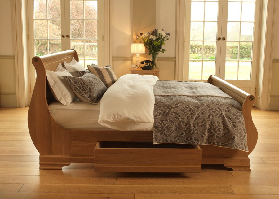 Solid Wood Sleigh Bed Camargue Sleigh Bed Revival Beds