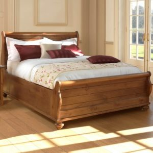 Solid Wood New England Sleigh Bed