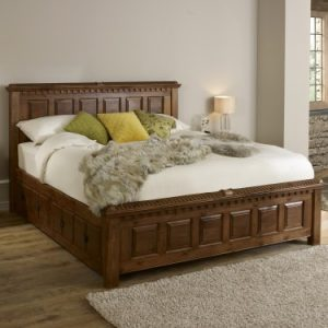 Traditional Handcrafted Solid Wood Bed