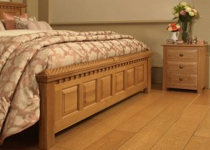 Irish Style Bed Footboard Panel Detail