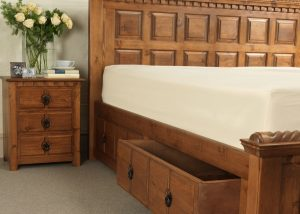 Irish Style Bed with Storage Drawers and Bedroom Furniture
