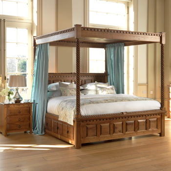Handcrafted Four Poster Bed