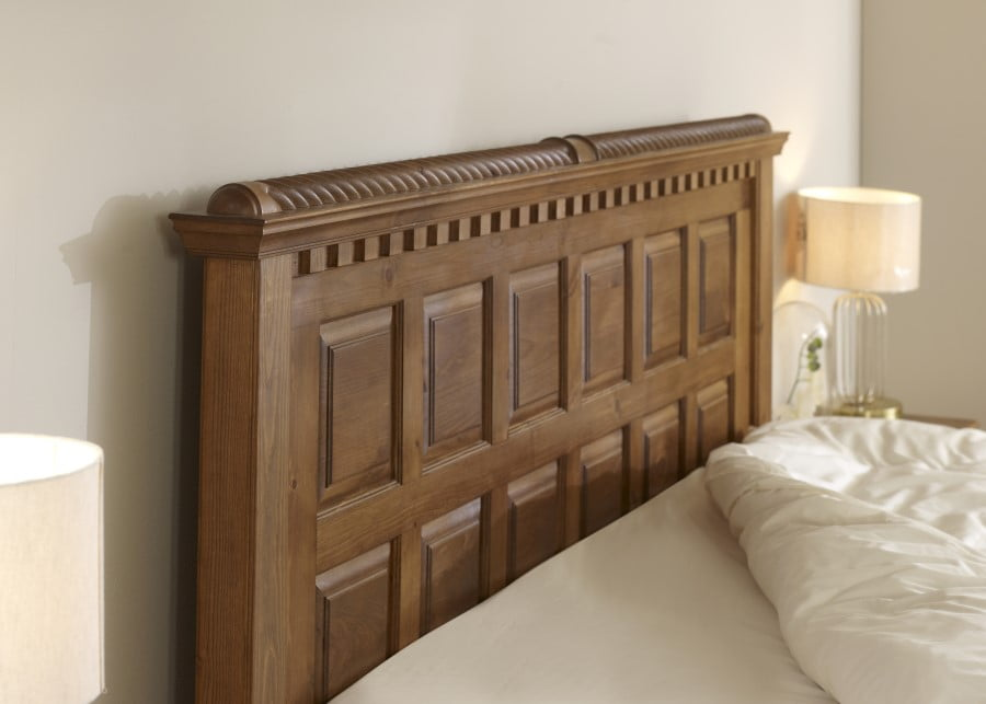 Solid Wood Panelled Headboard