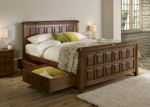 Super Kingsize Wood Bed with Storage