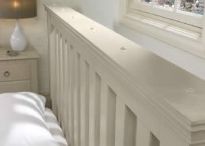 Close Up Painted Slatted Headboard