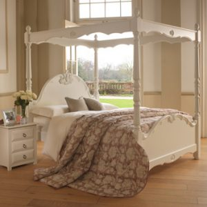 Painted Four Poster Bed