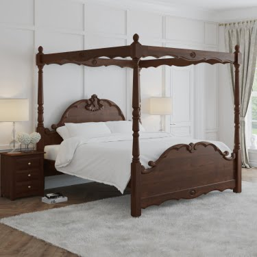 Traditional Wood Four Poster Bed