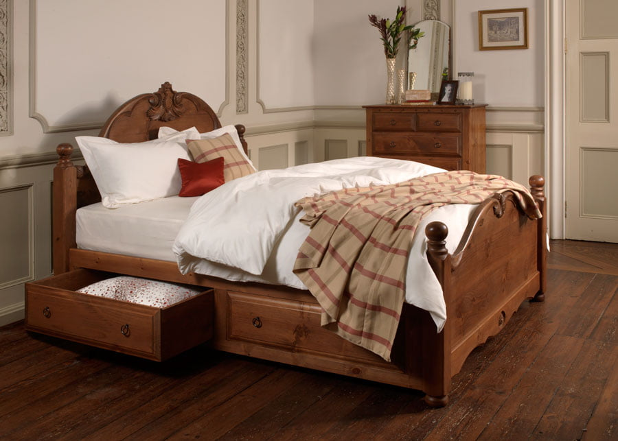 Wooden French Bed