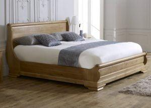 Oak Sleigh Bed