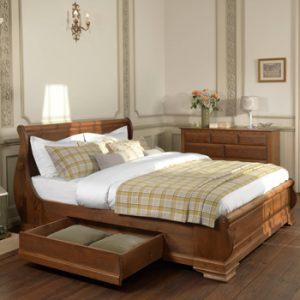 Handmade Wooden Sleigh Bed