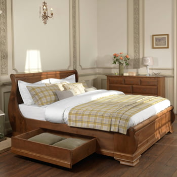 Handmade Wooden Sleigh Bed