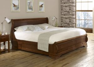 Super Kingsize Solid Wood Sleigh Bed