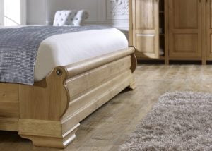 Oak Sleigh Bed Footboard