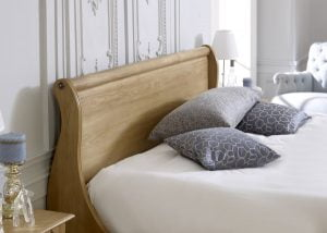 Oak Sleigh Bed Headboard