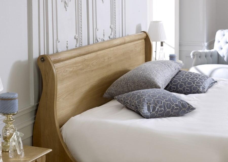Oak Sleigh Bed Headboard