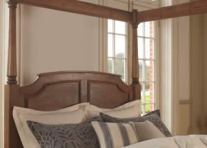 Traditional Headboard on Four Poster Bed