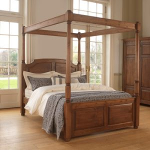 Handcrafted Solid Wood Four Poster Bed