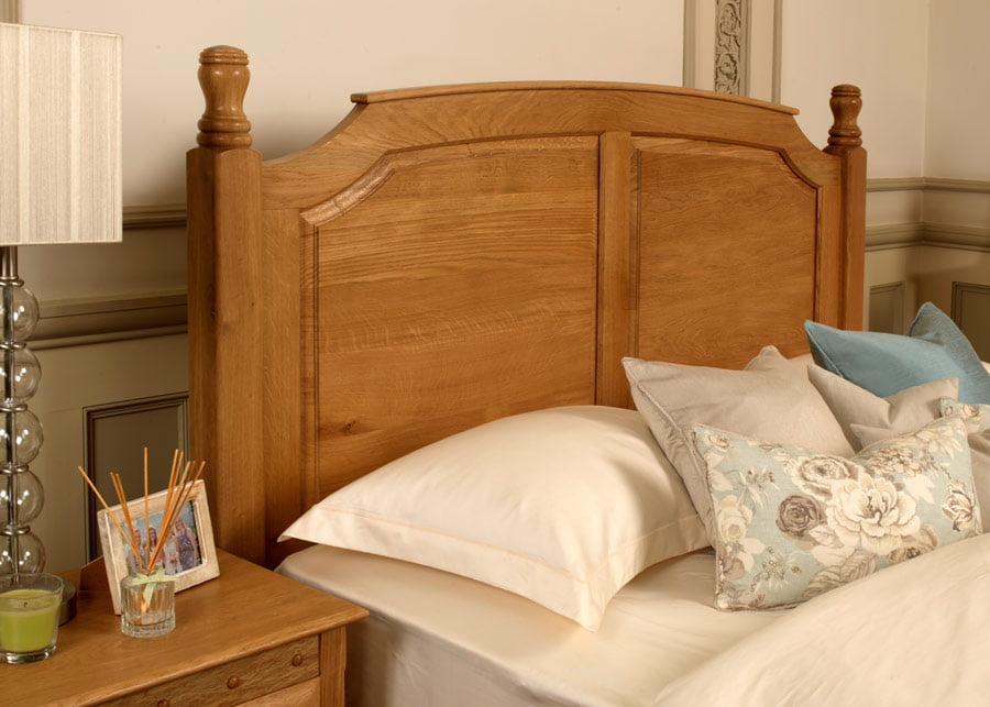 Traditional wooden bed the windsor from revival beds Traditional wood headboard