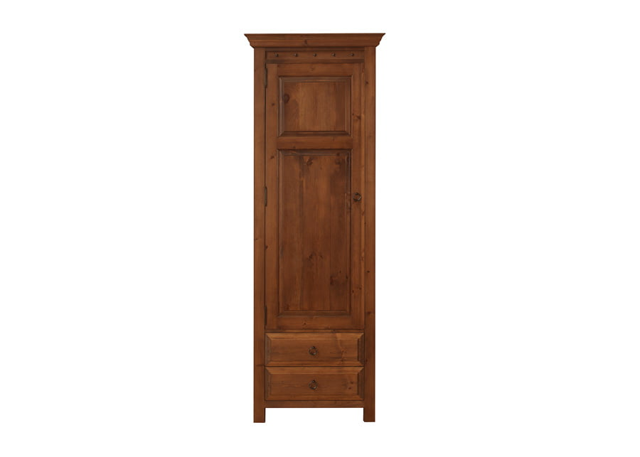 1 Door Wooden Wardrobe with 2 Drawers