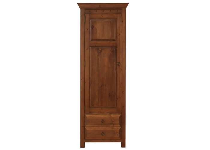 single door wardrobe with 2 drawers old wood