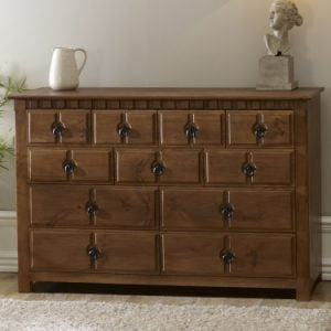 Large Solid Wood Chest of Drawers