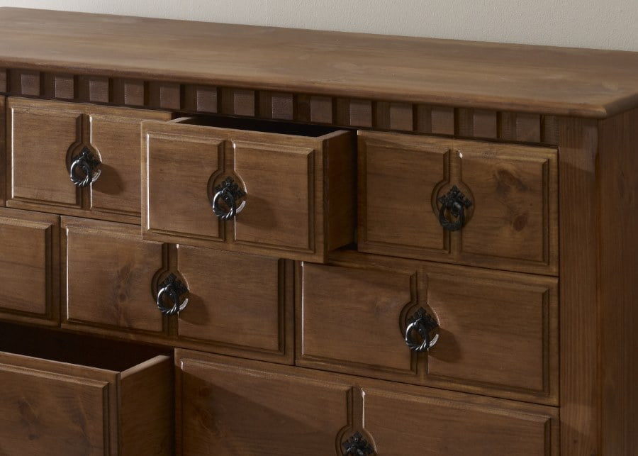 11 Drawer Wood Chest Close Up Detail