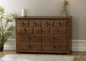 11 Drawer Chest in Dark Wood