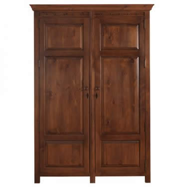 Solid Wood Two Door Wardrobe