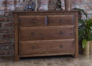 Small 4 Drawer Wooden Chest