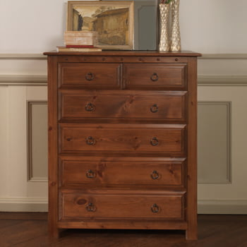 2 Over 4 Chest Of Drawers In Solid Wood And Oak Revival Beds