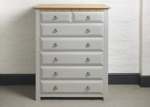 7 Drawer Painted Chest of Drawers