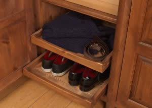 Sliding Shoe Tray Fitting for Wardrobe