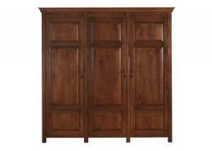 Three Door Wooden Wardrobe