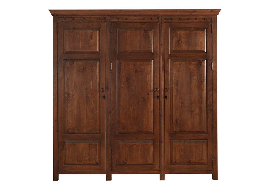 Three Door Wooden Wardrobe