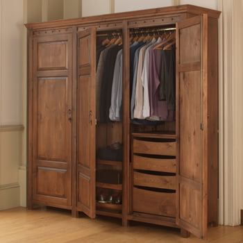 3 Door Solid Wood Wardrobe