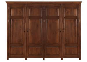 Four Door High Wardrobe Handmade