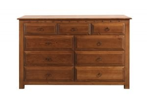 9 Drawer Chest in Solid Wood