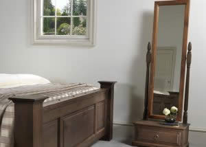Cheval Mirror Assembly and Footboard