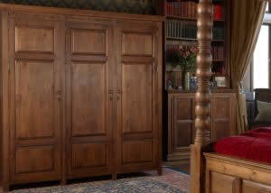 High Large Three Door Wardrobe