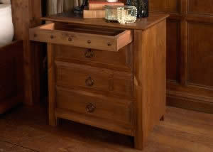 Hand Crafted Deluxe 3 Drawer Bedside