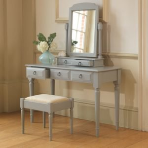Hand Painted Dressing Table Mirror and Stool