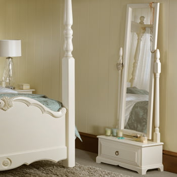 Cheval Mirror With Large Drawer In Solid Wood Revival Beds