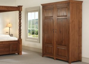 Extra Large Wooden Wardrobe with Four Poster Bed