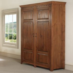 Extra Large 2 Door Wooden Wardrobe