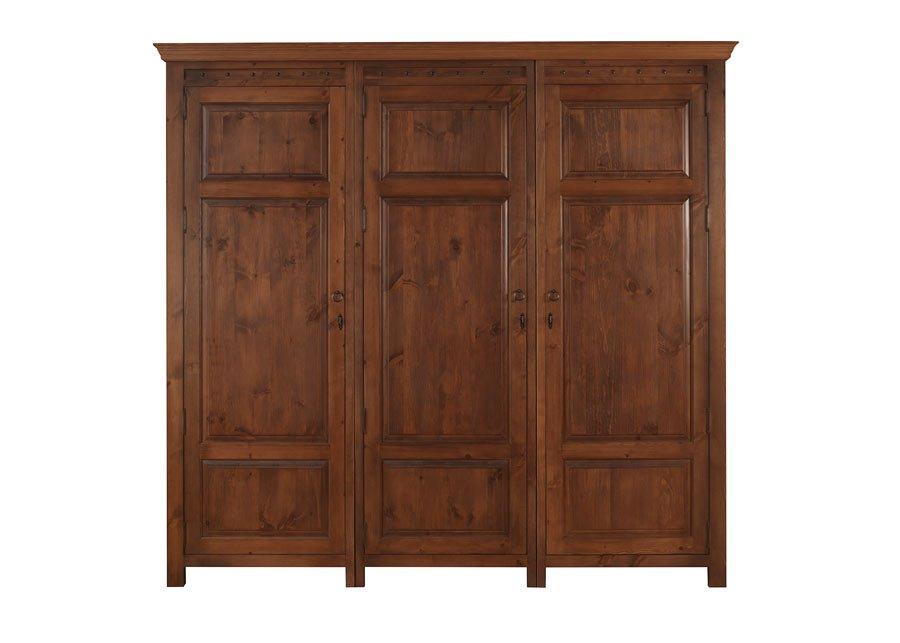 Three Door Solid Wood Wardrobe