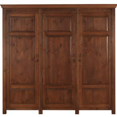 Extra Large 3 Door Wooden Wardrobe
